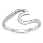 Silver Ring - Wave - $3.29