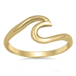 Silver Ring - Wave - $3.78