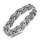 Silver Ring - Braided Rope - $2.98