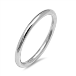 Silver Ring and Toe Ring - Round Band - $2.68