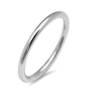 Silver Ring and Toe Ring - Round Band - $2.14