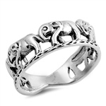 Silver Ring - Elephants - $5.55