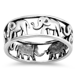 Silver Ring - Elephants - $5.88