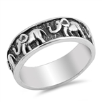 Silver Ring - Elephants - $11.72