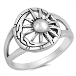 Silver Ring - Moon and Sun - $5.35