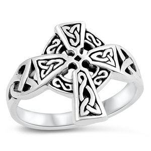 Silver Ring - Cross - $4.75