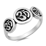 Silver Ring - OM Sign - $7.10