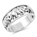 Silver Ring - Elephant - Size  6