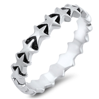 Silver Ring - Stars - $5.34