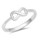 Silver Ring - Infinity Heart - $3.22
