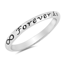 Silver Ring - Forever Love - $3.15