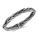 Silver Bali Ring - Rope Braid - $2.83
