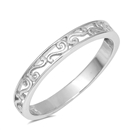 Silver Ring - Filigree Band - $3.16