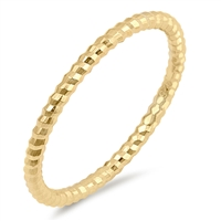 Silver Ring - Thin Diamond Cut Band - $2.58