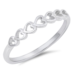 Silver Ring - Hearts - $2.18