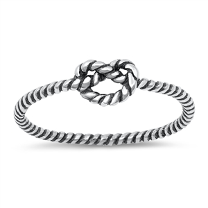 Silver Ring - Knot - $2.10