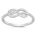Silver CZ Ring - Infinity Knot - $3.72