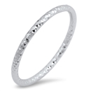Silver Ring - Thin Diamond Cut - $2.77
