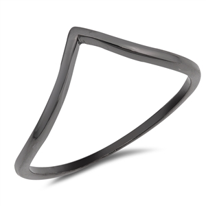 Silver Ring - V Shape - $2.03
