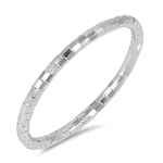Silver Ring - Diamond Cut Band - Start $2.83