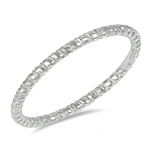 Silver Ring - Diamond Cut Band - $2.69