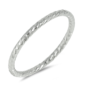 Silver Ring - Diamond Cut Band - $2.59