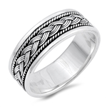 Silver Ring - Braided Band - $8.99