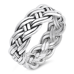 Silver Ring - Rope Band - $10.54