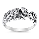 Silver Ring - Elephant - $4.10