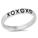 Silver Ring - XOXO Engraved - $3.93