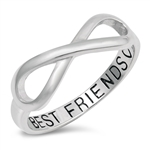 Silver Ring - Best Friends Infinity - $4.15