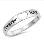 Silver Ring - Forever Love - $4.05
