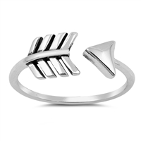 Silver Ring - Open Arrow - $3.24