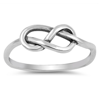 Silver Ring - Love Knot - $3.34