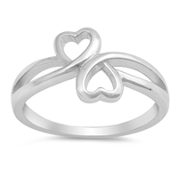 Silver Ring - Hearts - $4.54