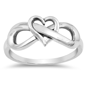 Silver Ring - Heart Infinity - $4.12