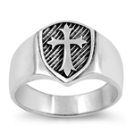 Silver Ring - Medieval Cross - $7.99