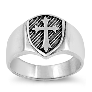 Silver Ring - Medieval Cross - $7.36