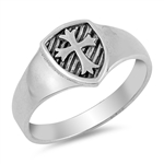 Silver Ring - Medieval Cross - $4.82