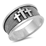 Silver Ring - Cross - $5.84