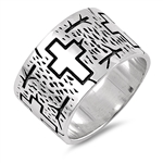 Silver Ring - Cross - $11.83