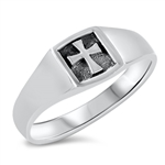 Silver Ring - Cross - $4.35