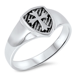 Silver Ring - Medieval Cross - $4.06