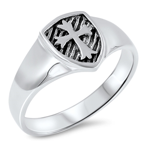 Silver Ring - Medieval Cross - $4.19