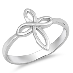Silver CZ Ring - Cross - $3.05