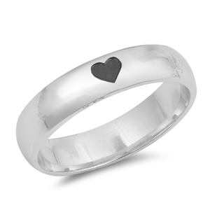 Silver CZ Ring - Heart Imprint - $5.75
