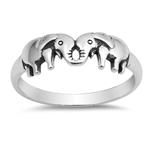 Silver Ring - Elephants - $3.75