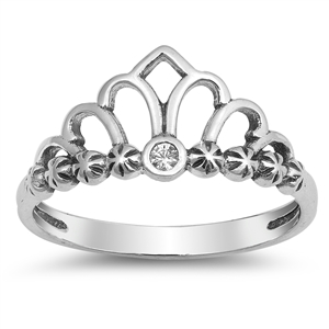 Silver Ring - Crown - $2.90