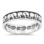 Silver Ring - Elephants - $4.79