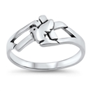 Silver Ring - Dove and Cross - $3.65
